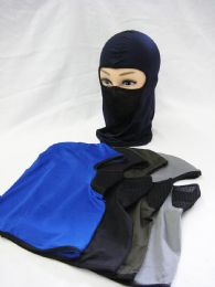 60 Units of Winter Fleece Ski Mask - Assorted Colors - Unisex Ski Masks