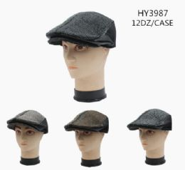 36 Units of Winter Newsboy Hat Assorted Colors - Fashion Winter Hats