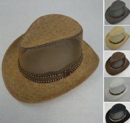 36 Units of Smaller Brim Cowboy Hat [Mesh Sides] - Cowboy & Boonie Hat