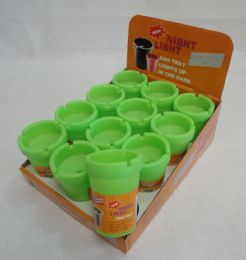 96 Units of Small Glow-in-the-Dark Butt Bucket - Ashtrays