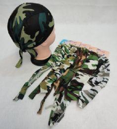 96 Units of Skull Cap-Army Camo Assortment - Bandanas