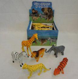 48 Units of Large Plastic Zoo Animal - Animals & Reptiles