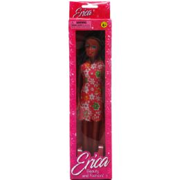 48 Units of Erica Ethnic Doll In Window Box, Assorted Short Dress - Dolls
