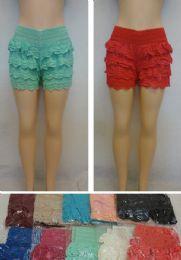 24 Units of Ladies Fashion Crochet Shorts - Womens Shorts