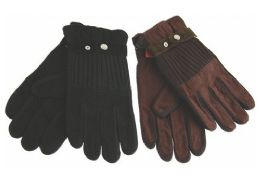 72 Units of Women's Faux Leather Glove - Leather Gloves