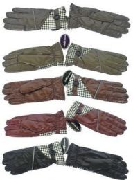 72 Units of Women's Gloves with Faux Fur inside 36 Pair - Knitted Stretch Gloves