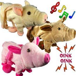 24 Units of JUMBO WALKING PIGS W/ REMOTE CONTROL LEASH & SOUND. - Animals & Reptiles