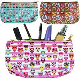 120 Units of OWL PRINT MAKEUP BAGS. - Cosmetic Cases