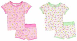 24 Units of Infant Girls Pajama - Flower Prints - Sizes 6-24m - Toddler Girl PJ's