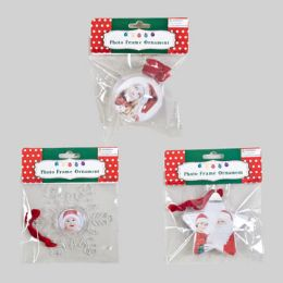 96 Units of Photo Frame Ornament - Christmas Ornament