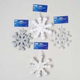 72 Units of Ornament Foam Snowflake - Christmas Ornament