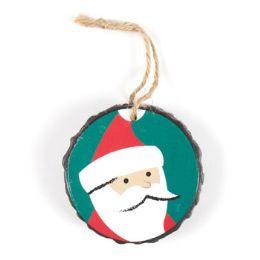 96 Units of Ornament Resin 3in Diameter Santa - Christmas Ornament