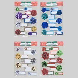 96 Units of Gift Tag Self-adhesive Large Size - X-MAS