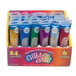 96 Units of Glitter Glue - Craft Glue & Glitter