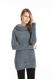 36 Units of Fazzy Turtle Neck Long Sleeve Sweater Dress - Womens Sweaters & Cardigan