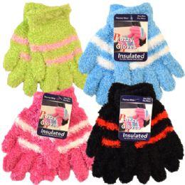 36 Units of Kids Soft Fuzzy Gloves - Fuzzy Gloves