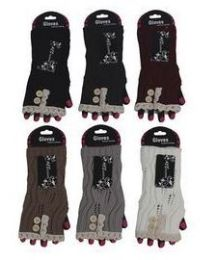 72 Units of Womens Fashion Fingerless Cotton Glove Hand Warmer - Arm & Leg Warmers