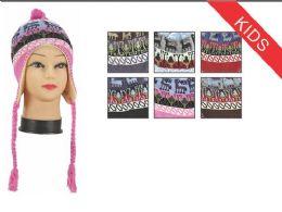 72 Units of Kid's Snowflake Helmet Hat - Winter Helmet Hats