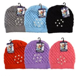 48 Units of Winter Knit Hat Rhinestones - Fashion Winter Hats