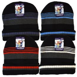 36 Units of Winter Knit Hat Thin Stripes - Fashion Winter Hats