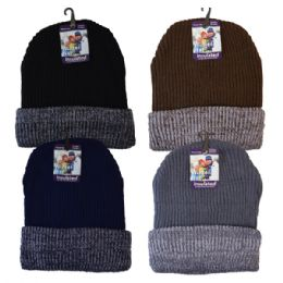 36 Units of Winter Knit Hat Thin Stripes - Winter Beanie Hats