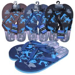 48 Units of Men Slippers Assorted colors - Men's Flip Flops and Sandals