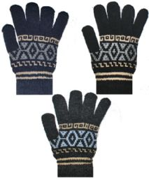 36 Units of Heavy Knit Unisex - Knitted Stretch Gloves