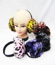 36 Units of Warm Winter Ear Warmers Animal Print Assorted - Ear Warmers