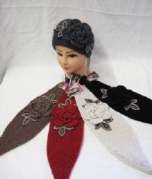 36 Units of Ear Warmer With Knitted Flower - Ear Warmers