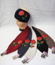 36 Units of Floral Rose Ear Warmer - Ear Warmers
