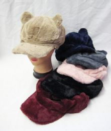 36 Units of Womens Fashion Winter Cap With Ears Assorted Color - Fashion Winter Hats