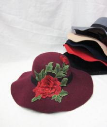 36 Units of Women's Fashion Winter Hat With Rose - Fashion Winter Hats