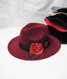 36 Units of Womens Fashion Winter Hat With Rose - Fashion Winter Hats