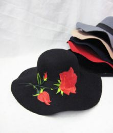 36 Units of Womens Fashion Winter Hat With Flowers - Fashion Winter Hats