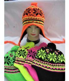 36 Units of Neon Winter Pilot Hat - Fashion Winter Hats