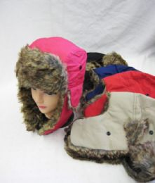 36 Units of Winter Fashion Pilot Hat With Fur - Fashion Winter Hats