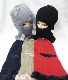 36 Units of Winter Ski Mask Faux Fur lined - Unisex Ski Masks