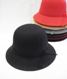 36 Units of Womens Winter Bucket Hat With Bow Assorted Colors - Fashion Winter Hats