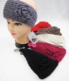 48 Units of Girls Winter Ear Warmers With Flower - Ear Warmers