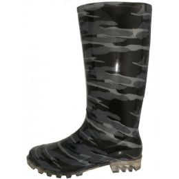 12 Units of Women's 13.5 Inches Waterproof Rubber Rain Boots ( *Camouflage Print ) - Women's Boots