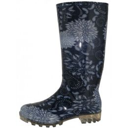 12 Units of Women's 13.5 Inches Waterproof Rubber Rain Boots - Women's Boots