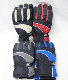 48 Units of Mens Winter Snow Glove Assorted Color - Ski Gloves