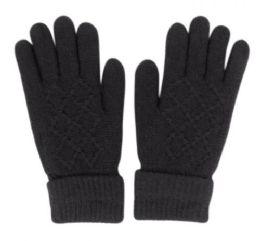 36 Units of Fuzzy Inner Knit Glove - Fuzzy Gloves