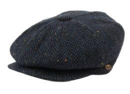 12 Units of TWEED HERRINGBONE WOOL BLEND NEWSBOY HATS - Fashion Winter Hats
