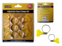 96 Units of 6 Piece Adjustable Hose Clamps - Clamps