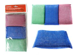 96 Units of 3pc Scouring Sponges - Scouring Pads & Sponges