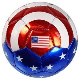 24 Units of No. 2 METALLIC US FLAG SOCCER BALLS. - Balls