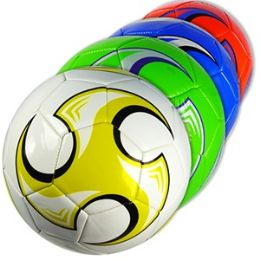 30 Units of OFFICIAL SIZE COLORFUL SWIRL SOCCER BALLS - Balls