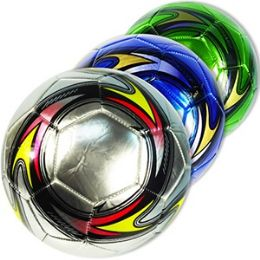 20 Units of OFFICIAL SIZE METALIC COLORFUL SOCCER BALLS - Balls