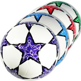 30 Units of OFFICIAL SIZE PATTERNED STAR SOCCER BALLS. - Balls